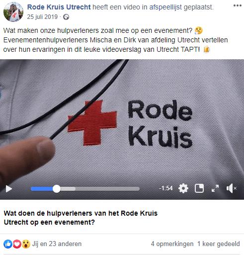 voorbeeld social media post
