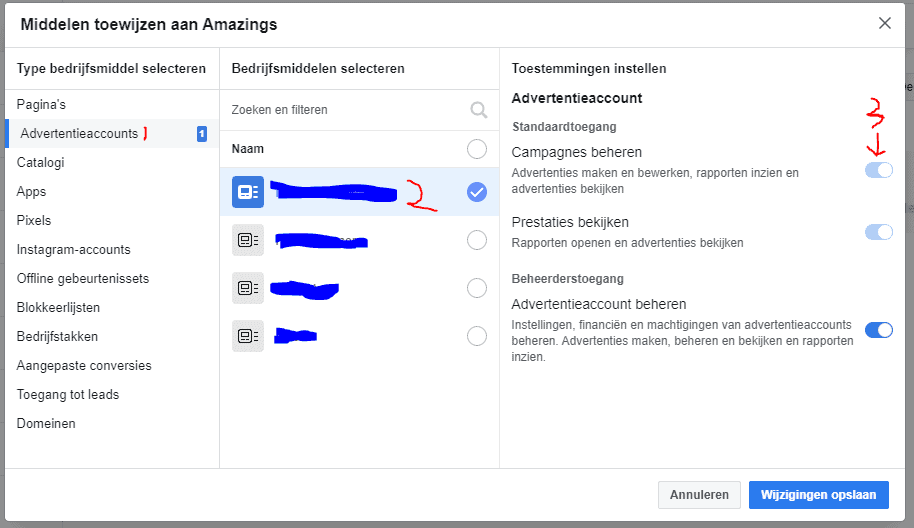 facebook toegang advertentieaccount